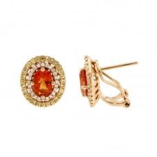 Orecchini con diamanti e pietre naturali - E42249-5
