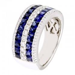 Anello con diamanti e pietre naturali - RFA3457BS-01