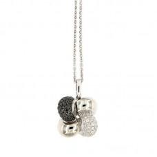 girocollo con diamanti - P38964-8